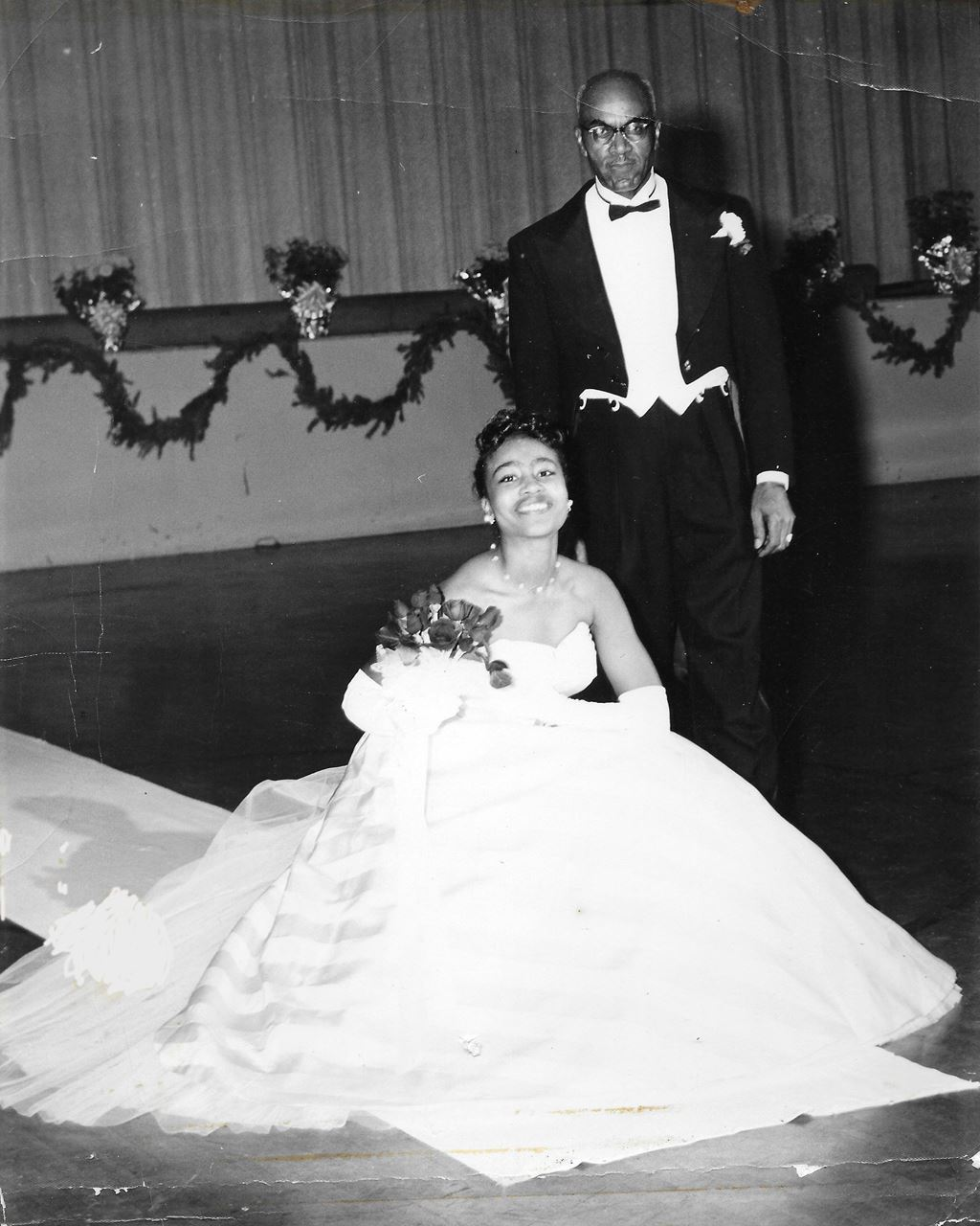 Wilma Barbee Taylor with her father, Hobart Barbee, 1959